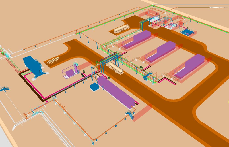 3D model of the new compressor facilities